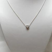 Matt heart sterling silver chain Necklace