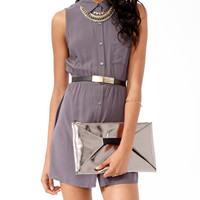 Sleeveless Open Back Shirtdress