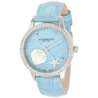 Stuhrling Original Women's 521.1115C8 Lifestyles Collection Verona La Playa Swiss Quartz Swarovski Crystal Mother-Of-Pearl Watch - designer shoes, handbags, jewelry, watches, and fashion accessories | endless.com