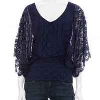 Scoop NYC | Beyond Vintage :: EXCLUSIVE Batwing Lace Blouse :: Blouses & Tops - WOMEN