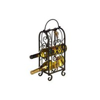 3 Bottle Metal Wine Rack