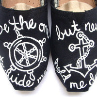 The Anchor - Black and White Custom TOMS