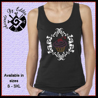 Rhinestone Cupcake with Damask Frame T Shirt or Tank in sizes S - 3XL Yummy work of Art