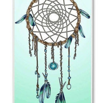 Teal & Blue Dreamcatcher  On iPhone 4 Case, iPhone 4s Case, iPhone 4 Hard Case, iPhone Case-graphic Iphone case