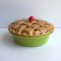 Ceramic Pie Potpourri Dish with Lattice Style Crust by fruitflypie