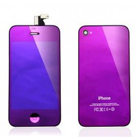 buy cheap Mirror Purple complete LCD Assembly for iPhone4S (LCD Digitizer Front Glass+LCD+Back Cover +Home Button ) wholesale on China Gadget Land