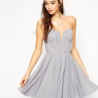 ASOS Twist Plunge Bandeau Skater Dress