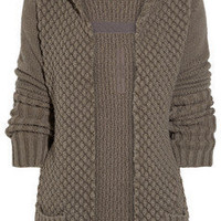 Rick Owens | Chunky-knit alpaca and silk-blend cardigan | NET-A-PORTER.COM