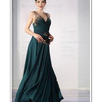 Sheath/Column Spaghetti Straps Floor Length Mother Of The Bride Dress 130330