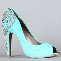 The Lorissa Shoe in Aqua Snake