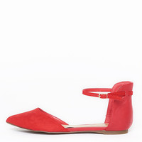 Cherry Red Pointy Flats - 7.5