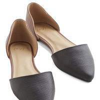 ModCloth Colorblocking You Got a New Aptitude Flat in Black