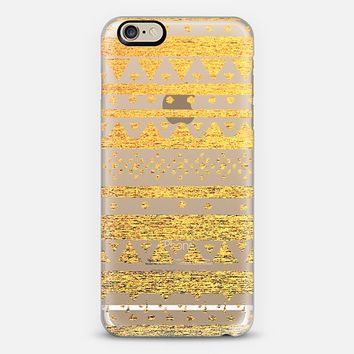 GOLD TRIBAL - CRYSTAL CLEAR PHONE CASE iPhone 6 case by Nika Martinez   Casetify