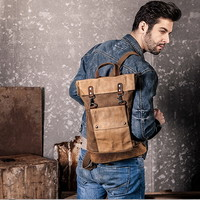 Brown tough and military canvas rucksacks pack for men - $83.90 : Notlie handbags, Original design messenger bags and backpack etc