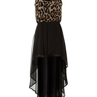 Cameo Rose Black Textured Ripple Strap Dress