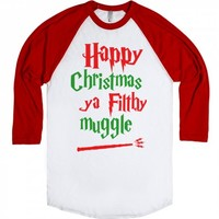 Happy Christmas-Unisex White/Red T-Shirt