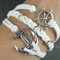 Bracelet-Anchor and rudder bracelet,South Korea velvet,Blessing bracelet
