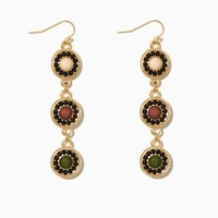 Olive Drops Earrings | Fashion Jewelry - Mixed Metals | charming charlie