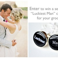 White Truffle Studio: Luckiest Man Cufflink Giveaway for the Groom!