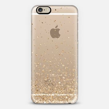 Gold Stars Rain Transparent iPhone 6 case by Organic Saturation | Casetify
