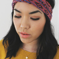 Nautical Knot Turban -- Red Tribal