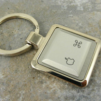 Apple Command Key-Ring in Silver