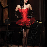 (Leg Avenue): PAIGE CORSET,WITH SUPPORT BONING AND SIDE ZIPPER (86334).
