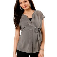 Motherhood Maternity: Short Sleeve Babydoll Maternity Blouse