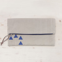 Alice Fate Lines & Triangles Fold-over Clutch