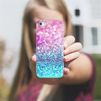 pastel glitter iPhone 5s case by Sylvia Cook | Casetify