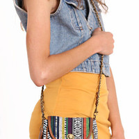 Land of Color Aztec Crossbody Purse - ThreadSence.com