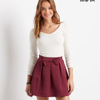 Aeropostale  Solid Bow Skirt - Black, X-Small
