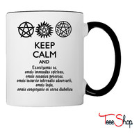 Supernatural Keep Calm and Exorcise Coffee & Tea Mug - white /