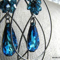 BERMUDABermuda Blue Swarovski Crystal and Gunmetal by BlondeChick
