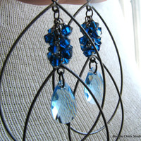 BLUEBERRYAquamarine Swarovski Crystal and Deep Blue by BlondeChick