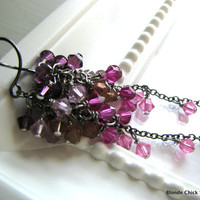 SWEETIEMixed Swarovski Crystal Cascading Long by BlondeChick