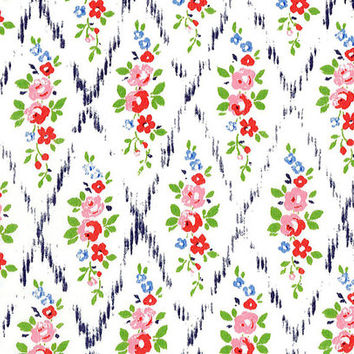 Liberty Tana Lawn Fabric - Liberty Japan - Cotton Print Fabric, Alice Mae - Colorful Floral Scrap - Quilt, Patchwork - NT15SS15