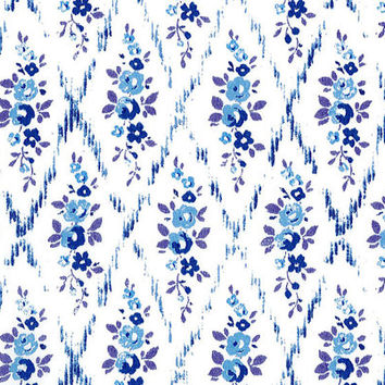 Liberty Tana Lawn Fabric - Liberty Japan - Cotton Print Fabric, Alice Mae - Blue Floral Scrap - Quilt, Patchwork - NT15SS16