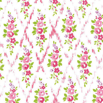Liberty Tana Lawn Fabric - Liberty Japan - Cotton Print Fabric, Alice Mae - Pink & Red Floral Scrap - Quilt, Patchwork - NT15SS17