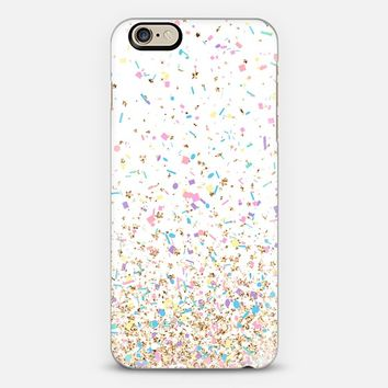 Gold Multicolor Pastel Confetti iPhone 6 case by Organic Saturation | Casetify