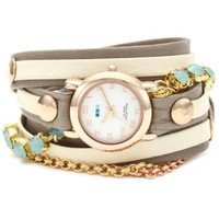 La Mer Collections Women's LMMULTI5002 Chandelier Crystal Chain Collection St. Tropez Watch - designer shoes, handbags, jewelry, watches, and fashion accessories | endless.com