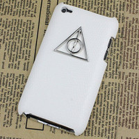 Deathly Hallows Harry Potter And White Hard Case Cover for Apple Ipod Touch 4, iPod Touch 4th,iTouch 4,iPod Touch 4gen Hard Case Cover
