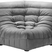 Zuo Circus Gray Sectional Corner Chair | LampsPlus.com