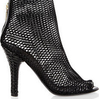 Dolce &amp; Gabbana | Peep-toe mesh boots | NET-A-PORTER.COM