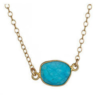 Lola James Turquoise Pendant Pebbles Necklace - Max and Chloe