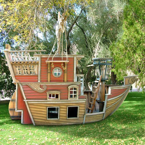 Red Beards Revenge Pirate Ship Playhouse : Luxury Playhouses at PoshTots