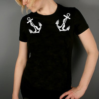 Anchor tshirt womens clothing