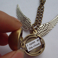Harry Potter Golden Snitch Necklace - I open and the close - You Choose the Snitch