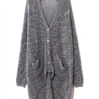 Gray LooseLong Sleeve Sweater$43.00