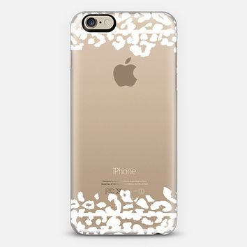 Wild Double White Leopard Transparent iPhone 6 case by Organic Saturation | Casetify